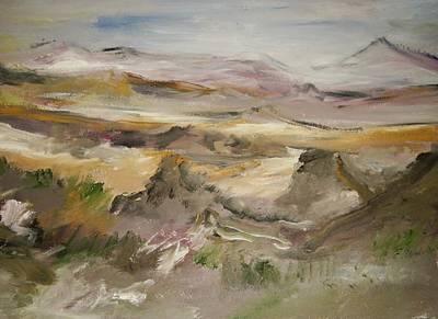 The Lower Mountain Range Original by Edward Wolverton