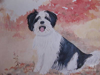 Painting - The Loyal Royal Dog. by Stella Sherman