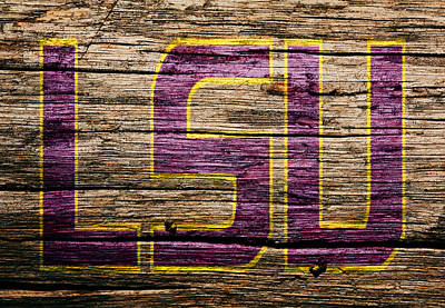 Louisiana State University Mixed Media - The Lsu Tigers 1a by Brian Reaves
