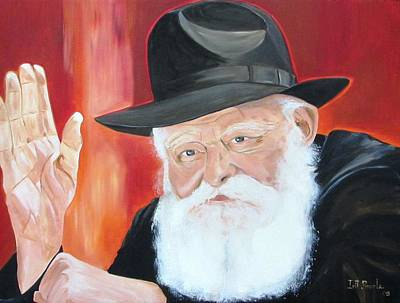 The Lubavitch Rebbe Art Print by Irit Bourla