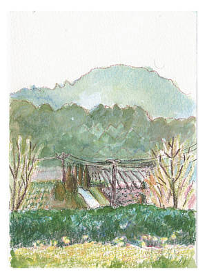 Print featuring the painting The Luberon Valley by Tilly Strauss