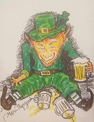 Beer Drawings - The Luck Of The Irish by Geraldine Myszenski