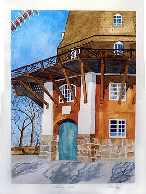 The Lumby Mill Art Print by Robert Lacy