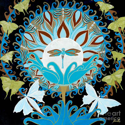 The Luna Moth Journey Of Faith And Love Art Print