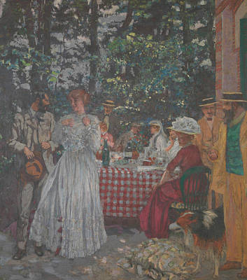 Furniture Painting - The Lunch by Edouard Vuillard