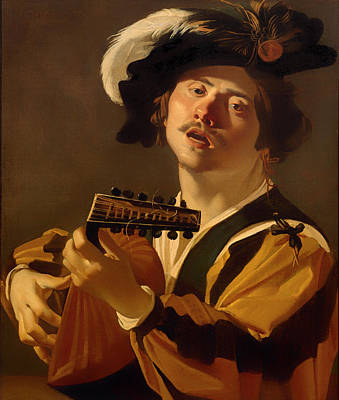 Lute Painting - The Lute Player by Mountain Dreams