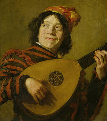 Painting - The Lute Player by Frans Hals