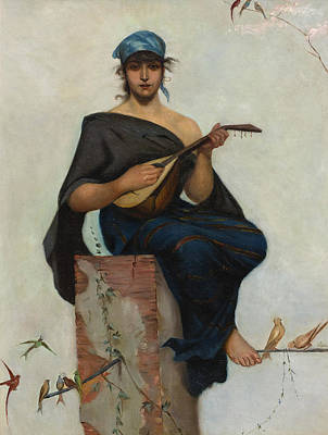 Painting - The Lute Player by Frederik Hendrik Kaemmerer