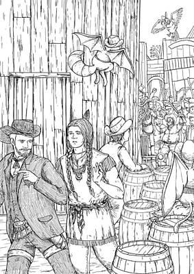 The Lynch Mob Art Print by Reynold Jay