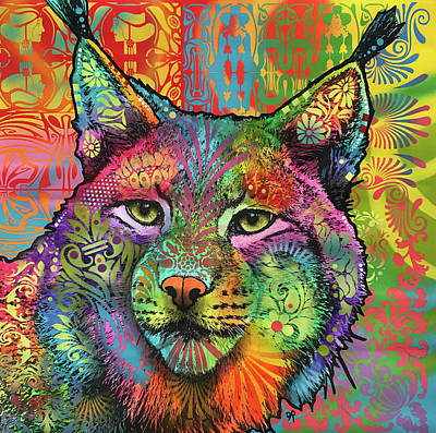 Lynx Wall Art - Painting - The Lynx by Dean Russo Art