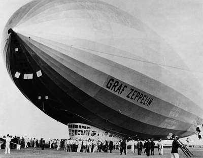 Bh History Photograph - The Lz 129 Graf Zeppelin, Making by Everett