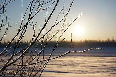 Photograph - The Mackenzie In Winter - Inuvik by Desmond Raymond