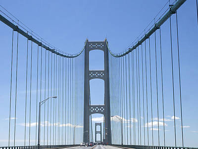 Photograph - The Mackinac Bridge by Danielle Allard