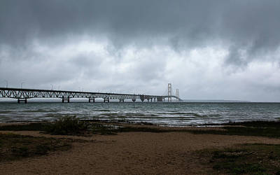 Photograph - The Mackinac Bridge by John M Bailey