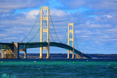 Photograph - The Mackinac Bridge by Michael Rucker