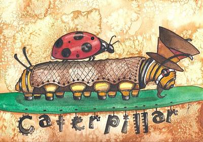 The Mad Caterpillar Art Print by Sheri Athwal
