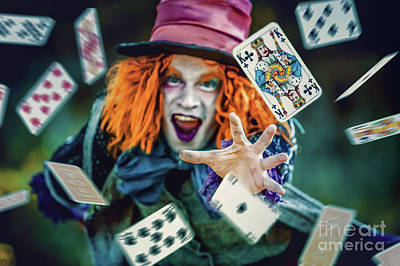 Art Print featuring the photograph The Mad Hatter Alice In Wonderland by Dimitar Hristov