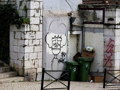Photograph - The Mad Hatter, Lisbon Street Art by Lorraine Devon Wilke