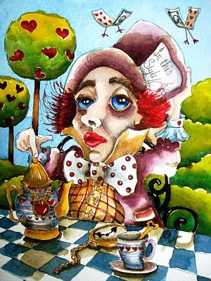 The Mad Hatter Art Print by Lucia Stewart