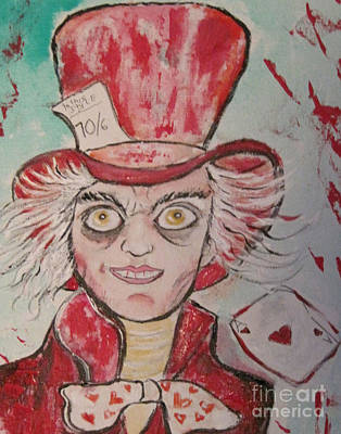 Mad Hatter Painting - The Mad Hatter by Sandy DeLuca