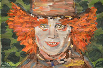 Mad Hatter Painting - The Mad Hatter by Vikram Singh