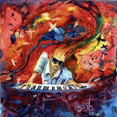 Donny Painting - The Mad Pianist by Don Seib