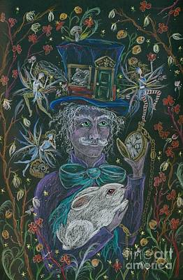 Drawing - The Maddening Hatter by Dawn Fairies
