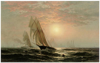 The Madeleine's Victory Over The Countess Of Dufferin America's Cup Art Print by Edward Moran