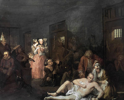 Hogarth Painting - The Madhouse by Celestial Images