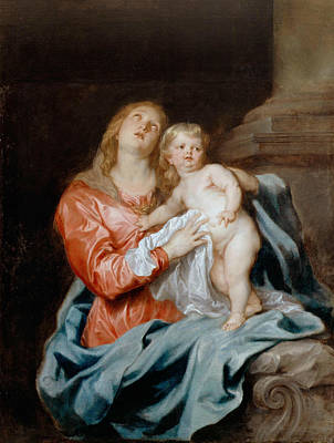 Painting - The Madonna And Child by Anthony van Dyck