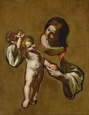 Painting - The Madonna And Child by Cristoforo Savolini