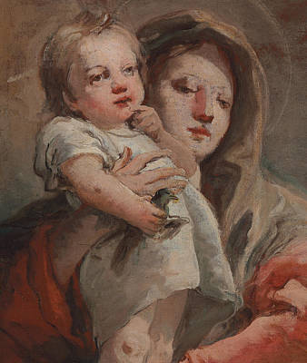 St Mary Painting - The Madonna And Child With A Goldfinch by Tiepolo