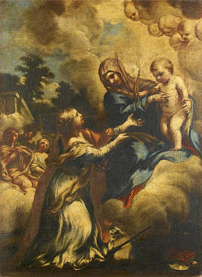 Painting - The Madonna And Child With Saint Martina by Lazzaro Baldi