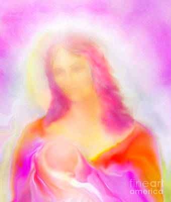Madonna Digital Art - The Madonna Of Compassion by Glenyss Bourne