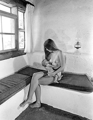 Seated Nude Girl Photograph - The Madonna Of Garcia Street, 1977 by Buddy Mays