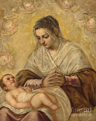 Mannerism Painting - The Madonna Of The Stars by Jacopo Robusti Tintoretto