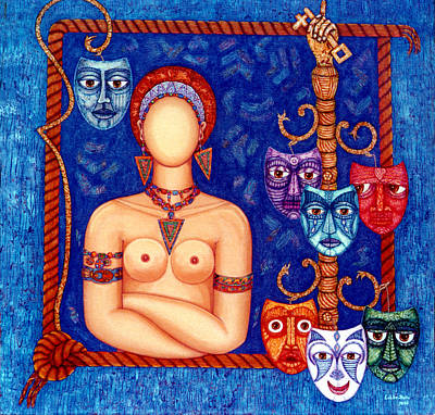 The Madwoman Art Print by Madalena Lobao-Tello