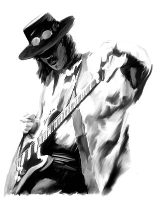 Painting - The Maestro Stevie Ray Vaughan by Iconic Images Art Gallery David Pucciarelli