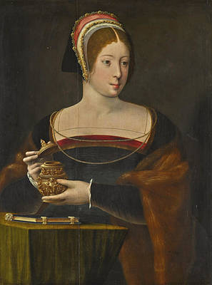 Painting - The Magdalene, Half-length, Holding A Jar Of Unguent  by The Master of the Female Half-lengths