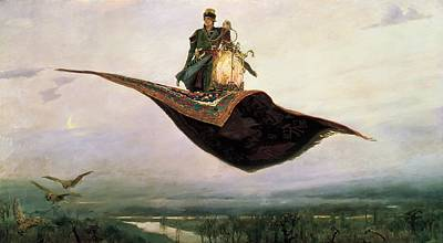 Baba Painting - The Magic Carpet by Vikor Vasnetsov