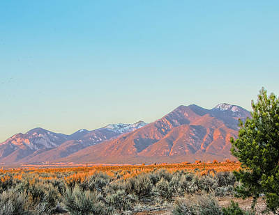 Sunset Photograph - The Magic Light Of Taos  by Charles Muhle
