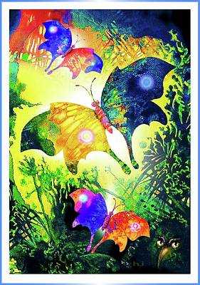 Painting - The Magic Of Butterflies by Hartmut Jager