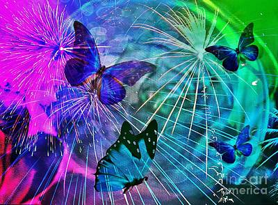 Photograph - The Magic Of Butterflies by Maria Urso