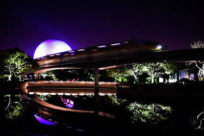Photograph - The Magic Of Epcot by Debbie Ann Powell