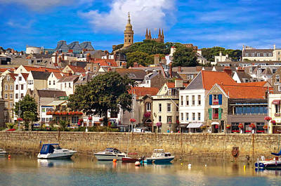 Photograph - The Magic Of St. Peter Port In Guernsey by Mitchell R Grosky