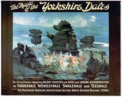 Elf Mixed Media - The Magic Of The Yorkshire Dales - North Eastern Railway - Retro Travel Poster - Vintage Poster by Studio Grafiikka