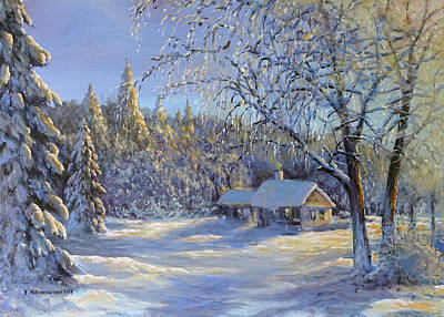 Painting - The Magic Of Winter by Valentin Katrandzhiev