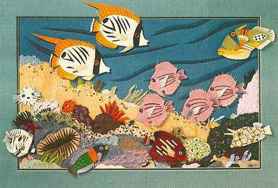 Triggerfish Mixed Media - The Magic Reef by Cynthia Conklin