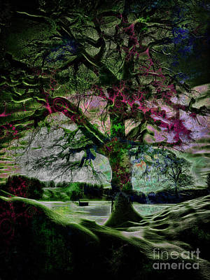 Digital Art - The Magic Tree by Edmund Nagele