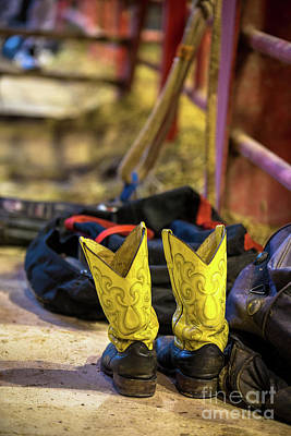 Photograph - The Magical Boots Of A Rodeo Cowboy by Rene Triay Photography